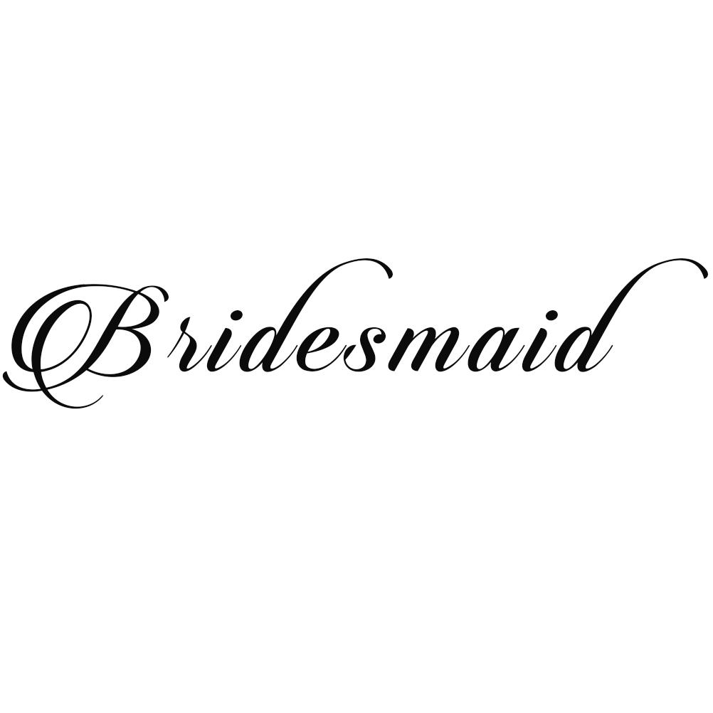Bridesmaid Wedding Party Bridal Vinyl Sticker Car Decal