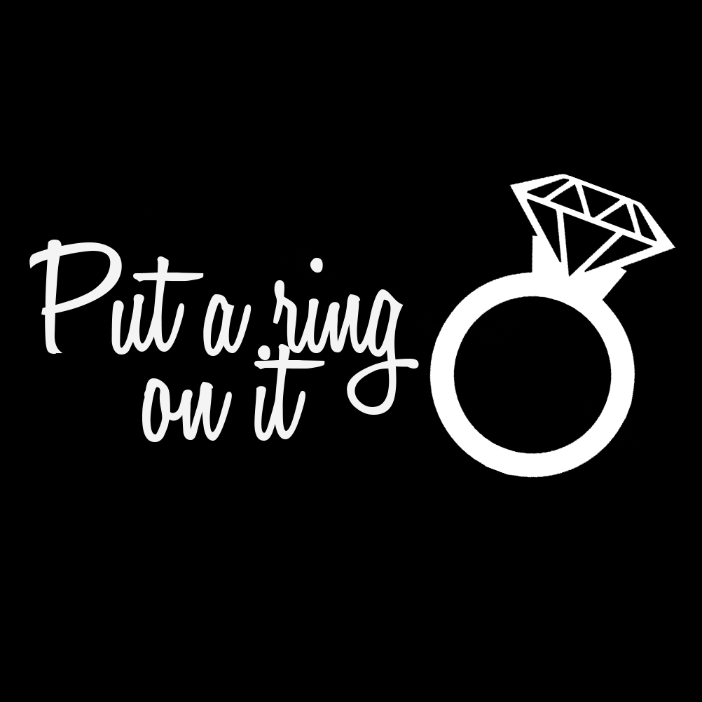 Diamond Wedding Ring Funny Put A Ring On It Silhouette