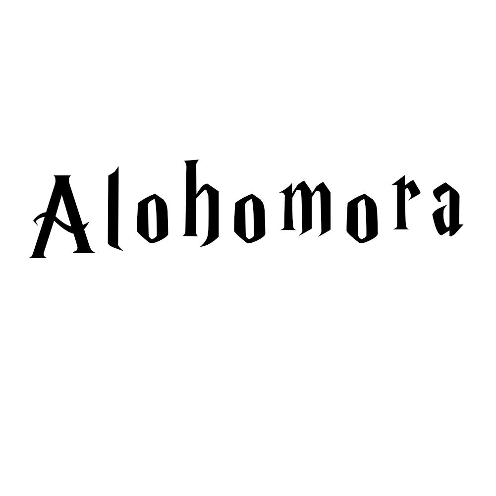 Hp Inspired Spell Alohomora Vinyl Sticker Car Decal