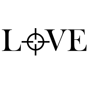 Love Sniper Target Bullseye Vinyl Sticker Car Decal