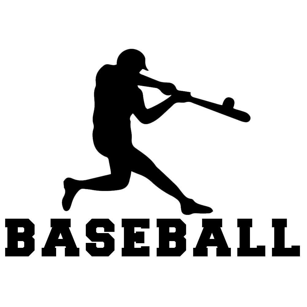 Baseball Player Silhouette Sports Vinyl Sticker Car Decal