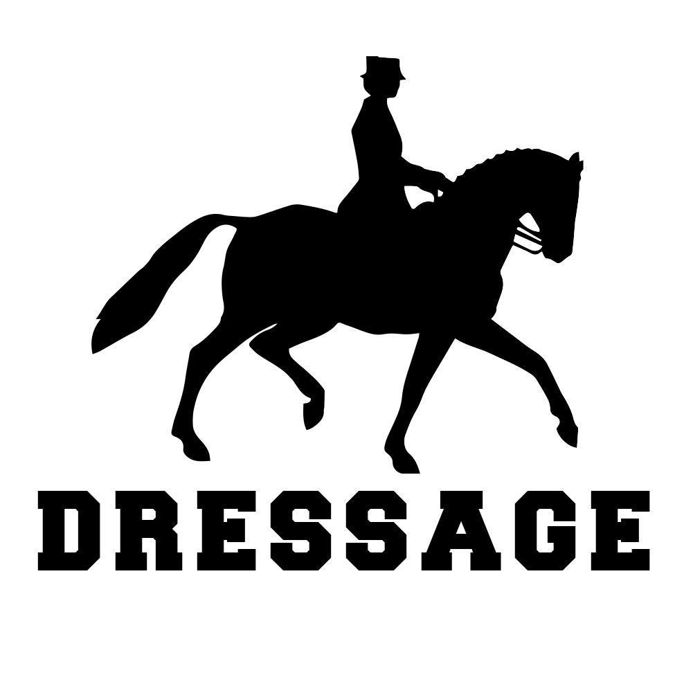 Dressage Horse Equestrian Silhouette Sports Vinyl Sticker ...