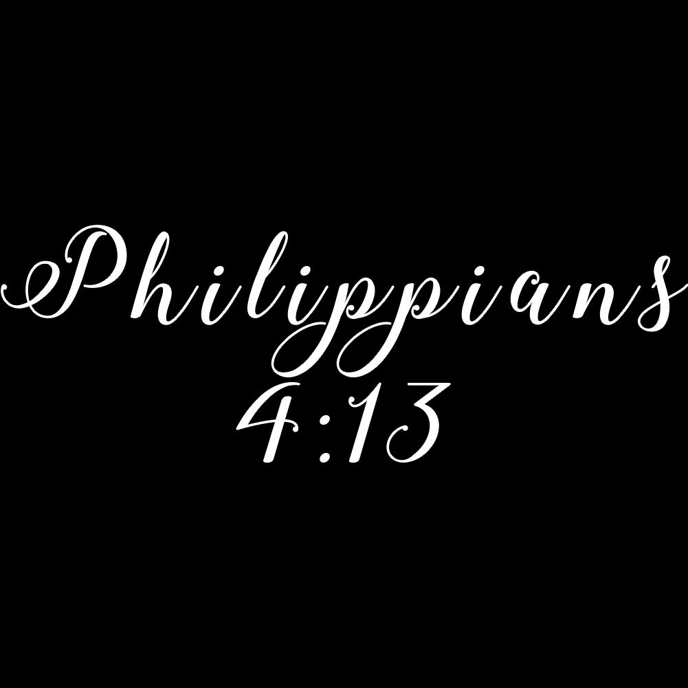 Religious Philippians 4 13 Bible Verse God Christian Vinyl