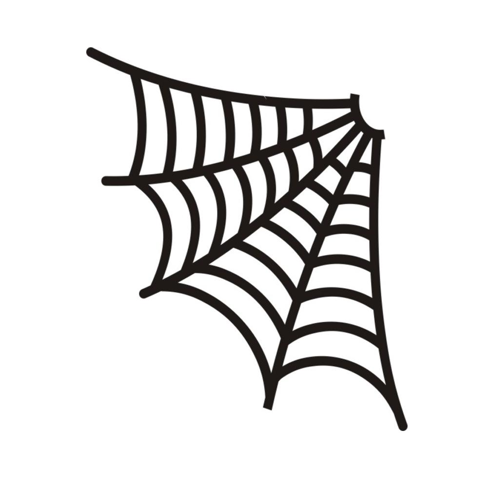 spider web corner halloween vinyl sticker car decal