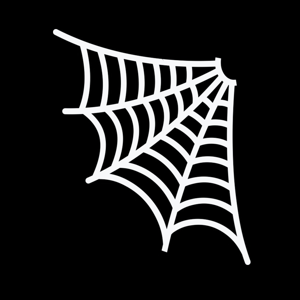 Spider Web Corner Halloween Vinyl Sticker Car Decal