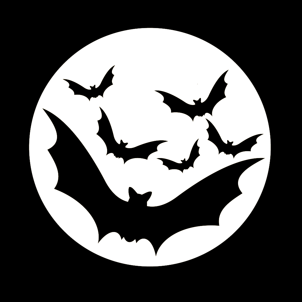 Bats Flying In Moon Spooky Halloween Vinyl Sticker Car Decal