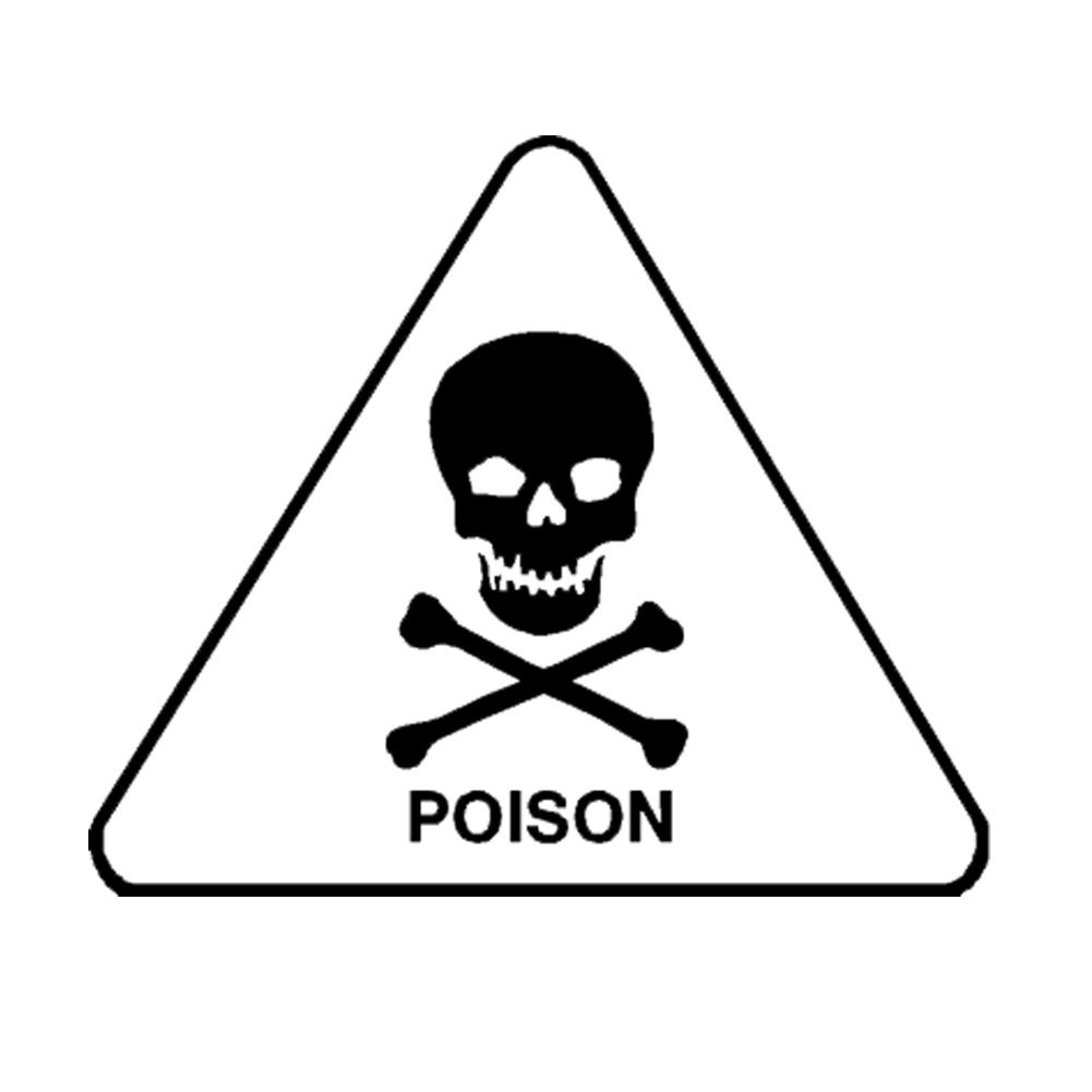 Poison Skull Crossbones Danger Hazard Symbol Vinyl Sticker Car Decal