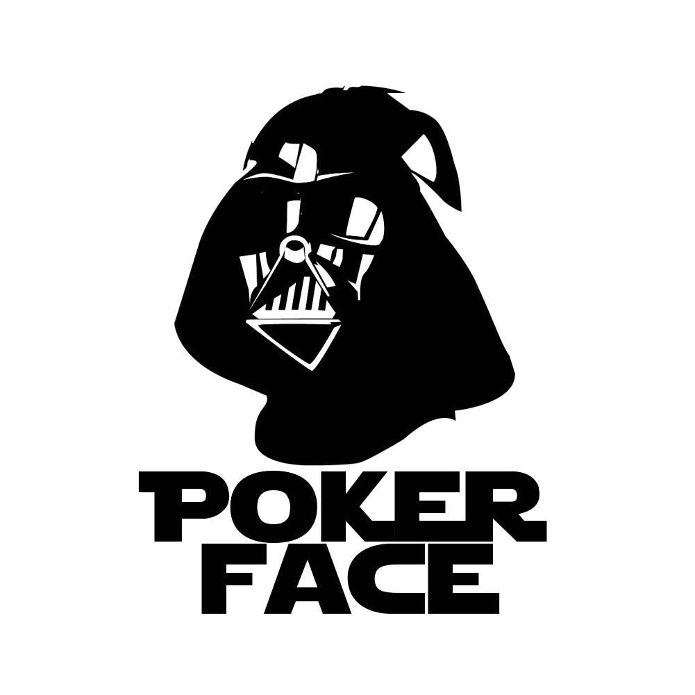 Darth Vader Poker Face Vinyl Sticker Car Decal