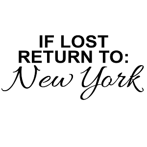 If Lost Return to New York Vinyl Sticker Car Decal
