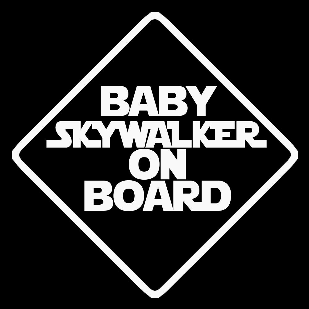 baby skywalker on board vinyl sticker car decal. Black Bedroom Furniture Sets. Home Design Ideas