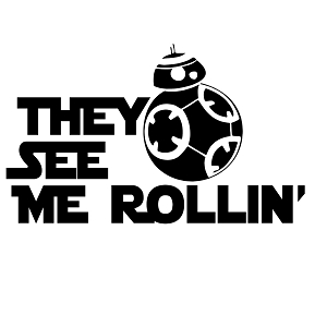 They See Me Rollin' BB-8 Vinyl Sticker Car Decal