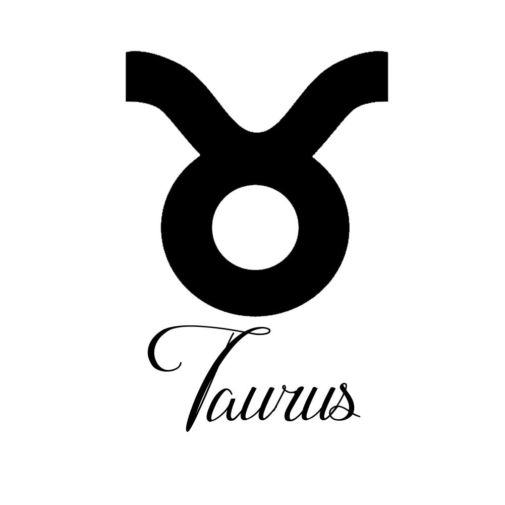 Zodiac sign taurus script writing silhouette vinyl sticker car decal buycottarizona