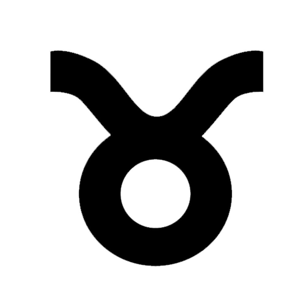 Zodiac Sign Taurus Silhouette Vinyl Sticker Car Decal