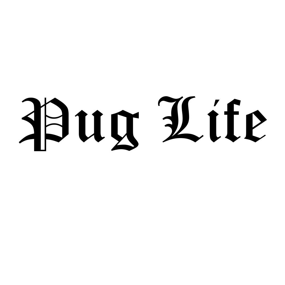 Funny pug life dog puppy thug life parody vinyl sticker car decal