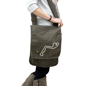 Circuit de Monaco Track Map 14 oz. Authentic Pigment-Dyed Canvas Field Bag Tote