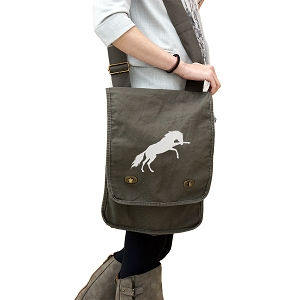 Kicking Horse Silhouette 14 oz. Authentic Pigment-Dyed Canvas Field Bag Tote