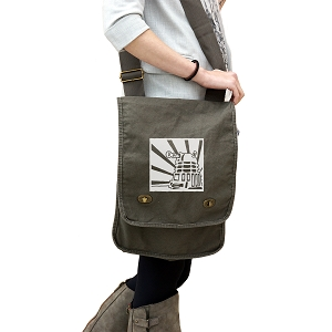 Dalek Japanese Empire Style 14 oz. Authentic Pigment-Dyed Canvas Field Bag Tote