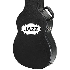 Jazz Oval Guitar Instrument Case Sticker  - 5