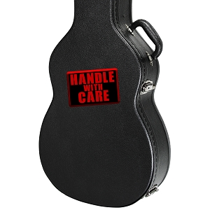 Handle With Care Guitar Instrument Case Sticker  - 4
