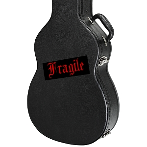 Fragile Guitar Instrument Case Sticker  - 5