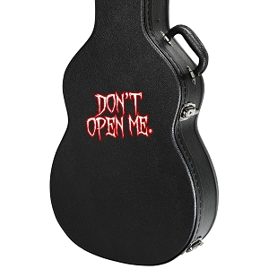 Don't Open Me Guitar Instrument Case Sticker  - 4