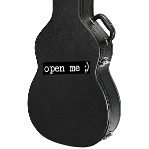 Open Me Guitar Instrument Case Sticker  - 5