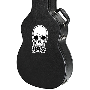 GTFO Skull Guitar Instrument Case Sticker  - 2.5