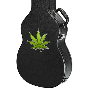Marijuana Pot Leaf Guitar Instrument Case Sticker  - 5