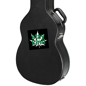 Stay Kind Marijuana Leaf Guitar Instrument Case Sticker  - 4