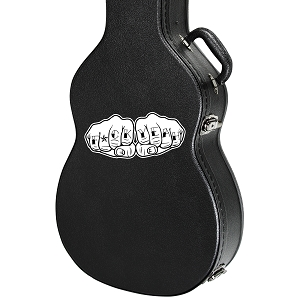 F*ck Yeah Knuckle Tattoos Guitar Instrument Case Sticker  - 5