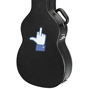 Middle Finger Symbol Social Media Guitar Instrument Case Sticker  - 3