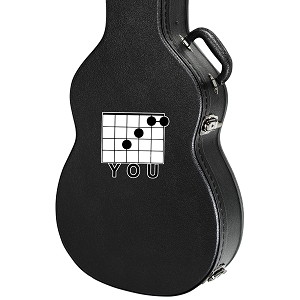 F Note You Pun Guitar Instrument Case Sticker  - 4