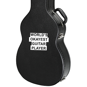 World's Okayest Guitar Player Guitar Instrument Case Sticker  - 4