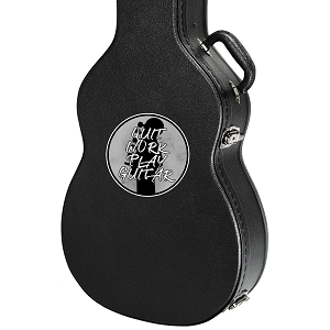 Quit Work Play Guitar Guitar Instrument Case Sticker  - 4
