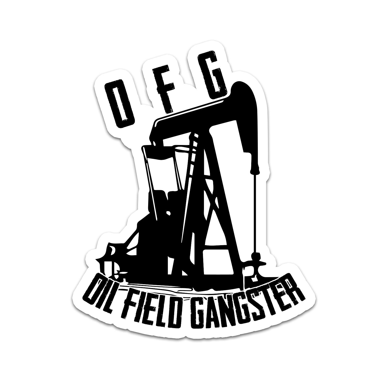 Oil Field Gangster Hard Hat Helmet Sticker