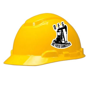 Oil Field Gangster Hard Hat Helmet Sticker