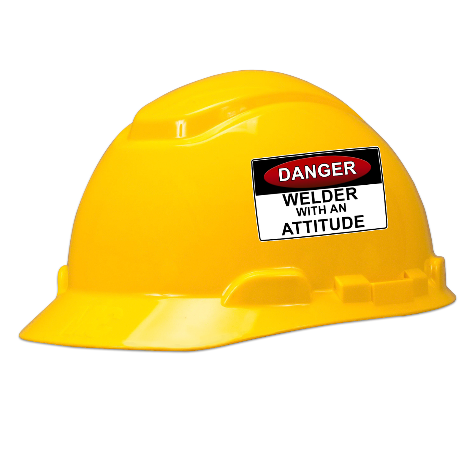 Danger Welder With An Attitude Hard Hat Helmet Sticker