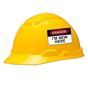 Danger I'm New Here Hard Hat Helmet Sticker