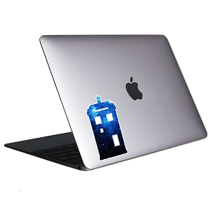 Galaxy Police Box Tablet & Laptop Sticker