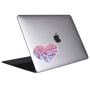 Flamingo Love Tablet & Laptop Sticker