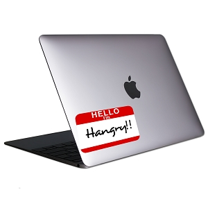Hello I'm Hangry Tablet & Laptop Sticker