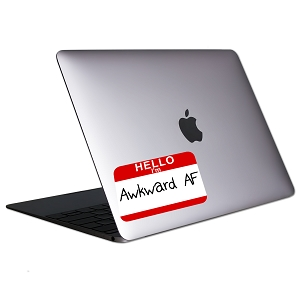 Hello I'm Awkward AF Tablet & Laptop Sticker
