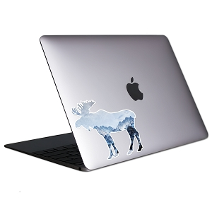 Moose Mountains Tablet & Laptop Sticker