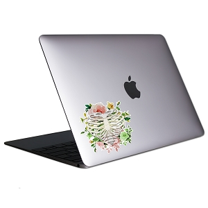 Ribcage Flowers Tablet & Laptop Sticker