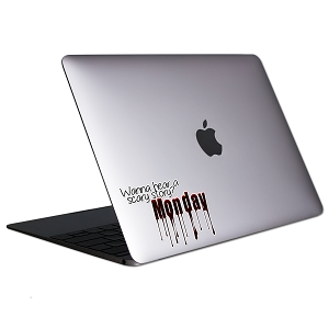 Wann Hear A Scary Story Monday Tablet & Laptop Sticker