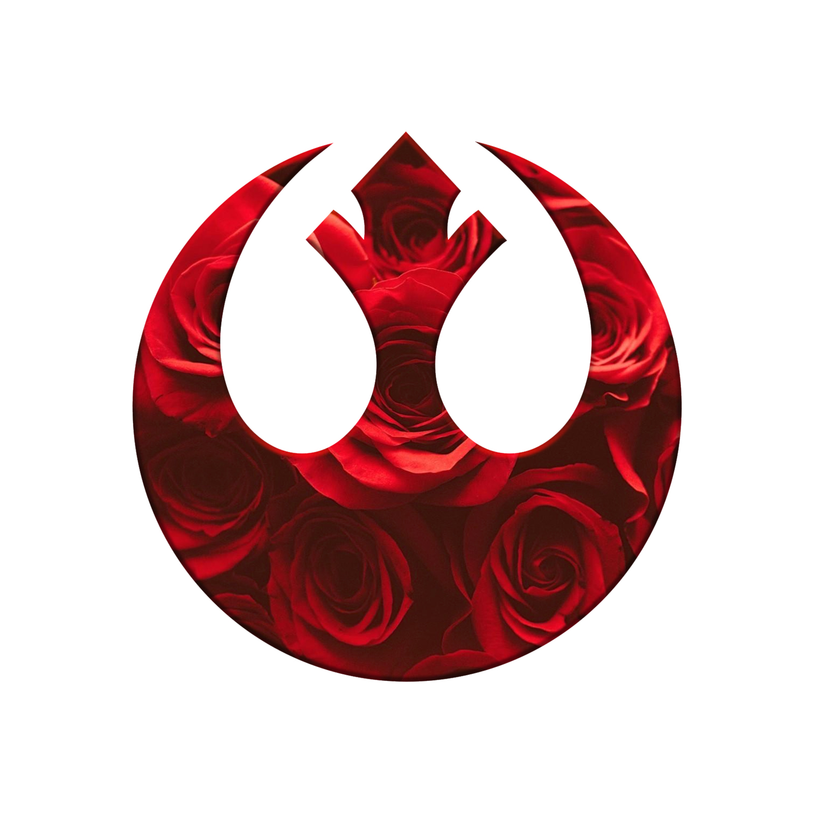 Red Rose Alliance Symbol Laptop Trackpad Sticker 3 Tall X 3 Wide