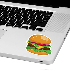 Cheeseburger Laptop Trackpad Sticker 3