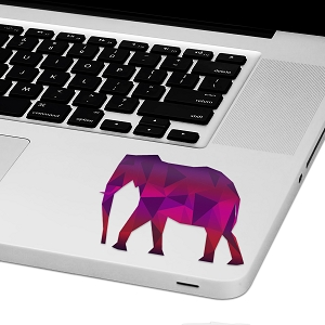 Geo Elephant Laptop Trackpad Sticker 2.5