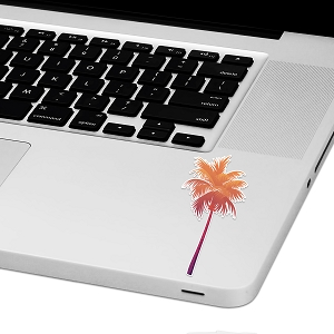 Sunset Palm Tree Laptop Trackpad Sticker 3