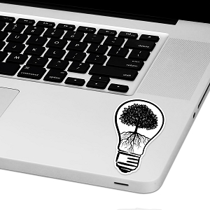 Lightbulb Tree Laptop Trackpad Sticker 4